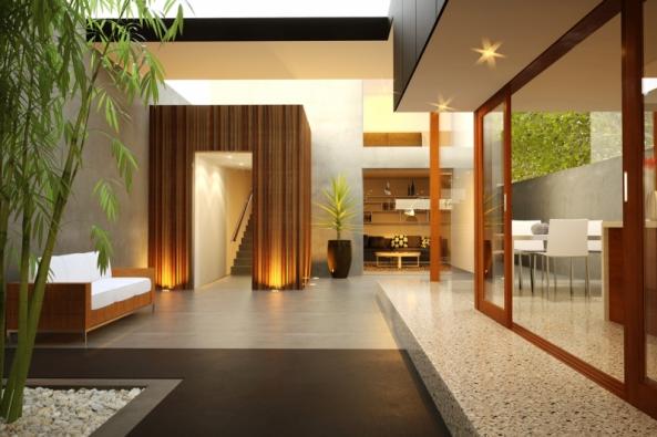 Barevný pohledový beton se dá výrobně zkombinovat se sklem a dřevem (ČESKOMORAVSKÝ BETON)