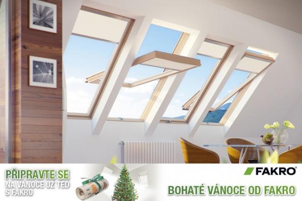 Plánujete nákup střešních oken? Lámete si hlavu s tím, jaké dárky letos nakoupíte? Společnost FAKRO si pro vás připravila speciální vánoční akci – za nákup střešních oken FAKRO můžete získat dárkový certifikát k využití na eshopu mall.cz.