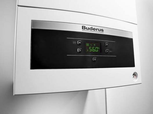 """Displej plynového kondenzačního kotle Buderus Logamax plus GB062. Kotel je zařazen do dotačního programu a lze tak získat státní příspěvek v rámci """"Kotlíkové dotace""""."""