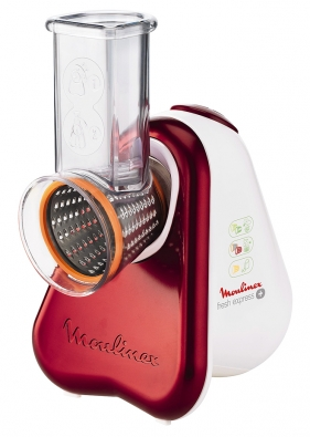 Kráječ astrouhač Fresh Express Plus Moulinex DJ756G35 má pět nástavců na strouhání akrájení různých potravin. Široký plnicí otvor usnadní vkládání surovin bez nutnosti jejich krájení. (www.mall.cz)