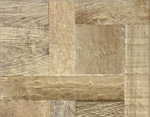 Keramické obkládačky Era svysokým reliéfem sdekorem starého dřeva vparketové skladbě, 33 × 33cm, www.rako.cz