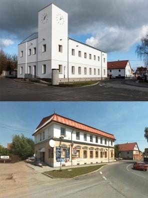 Česká cena za architekturu 2016: Tři věže – zateplení obecních budov s urbanistickým přesahem v Líbeznicích (Atelier M1 architekti, 2014)