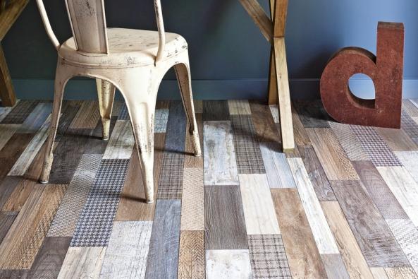 Zkategorie samovyrovnávacích PVC podlahových krytin stextilní podložkou je kolekce Texline vdekoru Westwood brown, Gerflor, www.gerflor-pvc.cz
