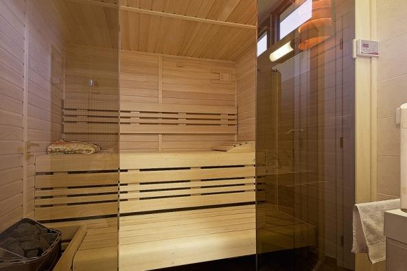 Sauna namíru, plocha 6m2, obklad zolše