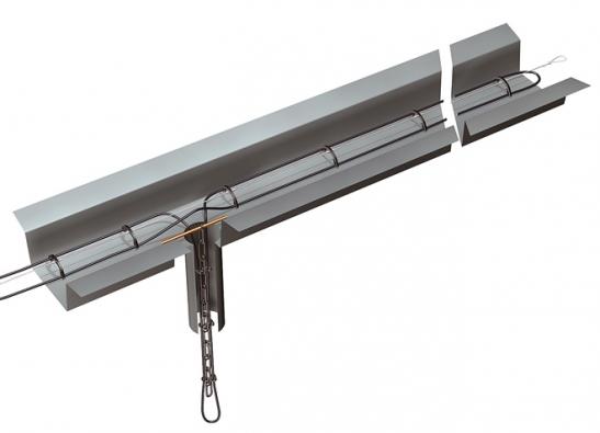 Šikovná příchytka kuchycení kabelu vežlabu 150 – je vyrobena zmrazuvzdorného aUV odolného plastu. Je určena pro běžné půlkulaté okapy průměru 150mm (FENIX)