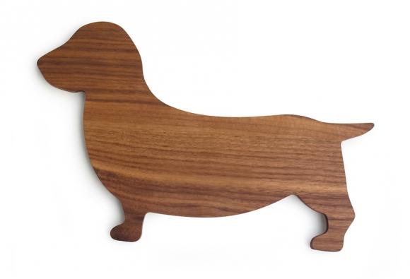 Prkýnko vetvaru jezevčíka, evropský ořech,  39 x 24,5 x 1,2cm, Side by Side, www.greenliving-shop.de