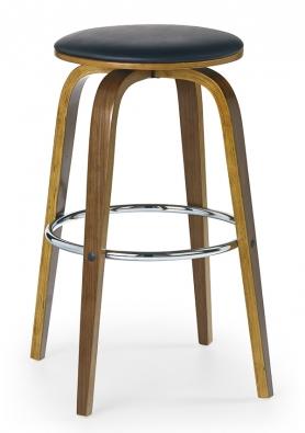 Barová židle H-39 zrustikálního ořechového dřeva aeko- kůže, 40 x 70 x 40cm, www.jena-nabytek.cz