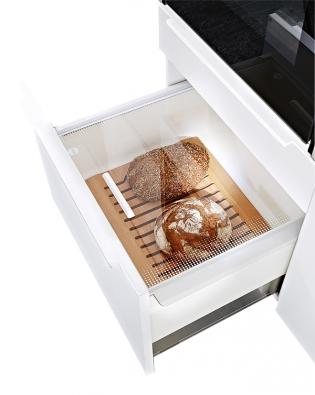 Napotraviny, které neuskladníte vchladničce, jako je pečivo nebo některé druhy ovoce azeleniny, vytvořil výrobce Ballerina Küchen nové úložné prostory Pantrybox, www.ballerinakuchyne.cz