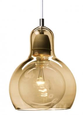 Zručně foukaného skla vezlatém odstínu je svítidlo Mega Bulb, design Sofie Refer, &Tradition, www.designville.cz