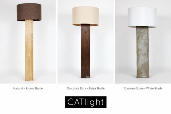 Lampy CATlight - originalita i tradice ve dřevě či betonu