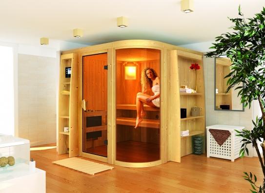 Sauna Karibu Parima 3 umožní vychutnat si kouzlo saunování v soukromí domova. Vyniká použitím kvalitních materiálů. V Parima 3 se mohou najednou saunovat až tři osoby (MARIMEX)
