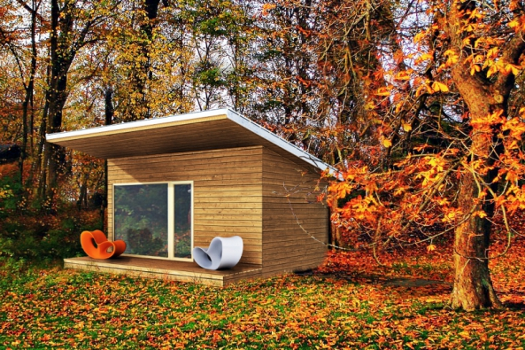 Venkovní sauna v sobě spojuje, zdraví, krásu, klid a romantiku, ne každý má ale možnost takový projekt uskutečnit (SAUNASYSTEM)