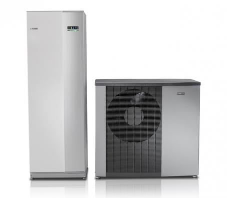 Tepelné čerpadlo vzduch/voda NIBE F2120 svýstupní teplotou až 65 °C asenzačních 63 °C ipři venkovní teplotě –25 °C (NIBE)