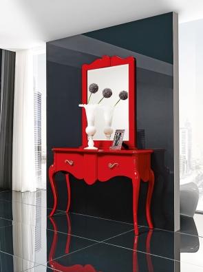 Barev abohatšího tvarosloví se Španělé nikdy nebáli. Toaletní stolek odvýrobce Lino.
