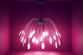 Malé rozměry LED světelných zdrojů, které se nemusí omezovat jen natvary klasických žárovek, jdou naruku designérům moderních interiérových svítidel (IKEA)