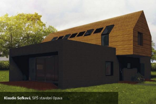 Z vítězných projektů soutěže Život pod střechou 2016: Klaudie Sofková - Rodinný dům na určeném pozemku (Zdroj: VELUX)