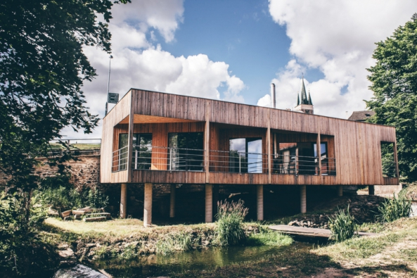 Loňský vítěz soutěže E.ON Energy Globe v kategorii Stavba: Dům nad vodopádem, Telč (Zdroj: E.ON)