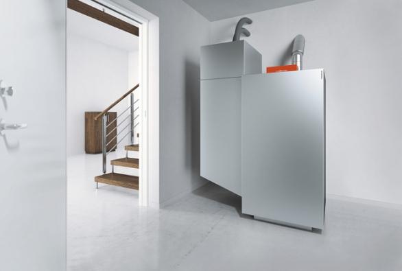 Plně automatický peletkový kotel svýkonem 4 až 12 kW, 6 až 18 kW a8 až 24 kW súčinností až 95% zn. Vitoligno 300-P (Viessmann)