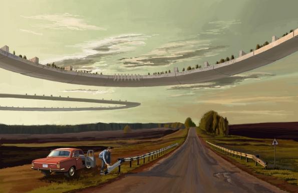 """Fairy Tales 2017: 1. cenu získal ukrajinský architekt Mykhailo Ponomarenko za projekt """"Last Day"""", ve kterém pomocí technik klasické malby vytvořil sérii monumentálních krajin, do nichž jsou včleněny gigantické vědecko-fantastické prvky. (3) (Zdroj: Blankspaceproject.com)"""