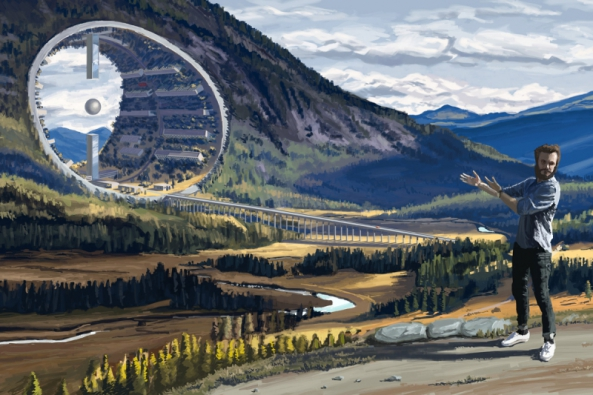 """Fairy Tales 2017: 1. cenu získal ukrajinský architekt Mykhailo Ponomarenko za projekt """"Last Day"""", ve kterém pomocí technik klasické malby vytvořil sérii monumentálních krajin, do nichž jsou včleněny gigantické vědecko-fantastické prvky. (Zdroj: Blankspaceproject.com)"""