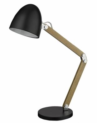 Woodie, dřevo a chrom, celková výška 60 cm, vyrábí Searchlight, www.osvetleni-svitidla.com