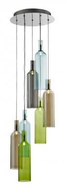 Vibrant, chrom a barvené sklo, výška 120 cm, vyrábí Searchlight, www.elampa.cz