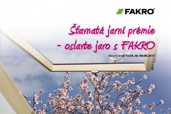 """Právě začala akce značky FAKRO nazvaná """"Šťavnatá jarní prémie"""". Až do 30. června bude společnost rozdávat prémie za nákup vybraných střešních oken a oken do plochých střech typu F, typu C."""