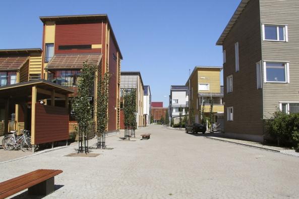 Dřevěné město Eco-Viikki v Helsinkách je příkladem jednoho z možných směrů budoucí architektury.