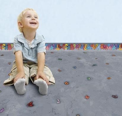 Zajímavou novinkou je vinylová podlaha Wineo PURLINE ARTIST. Jde oextrémně odolnou azdravotně nezávadnou ekologickou podlahu nabázi bio polyuretanu skrásnými dětskými dekory sperleťovým povrchem. Ocení ti nejmenší ijejich maminky (KPP)