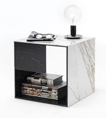 Dvouvrstvé mramorové desky Bislapis® mají tloušťku 6, 9 a12mm, každá strana může mít jinou barvu astrukturu. Toho se využívá kzajímavým estetickým efektům nejen u nábytku. Vyrábí společnost Marmi Remuzzi Bergamo (2)