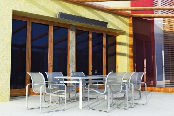 Terasová topidla ECOSUN Terrace Heater jsou určena k zónovému ohřevu zimních zahrad, lodžií, zastřešených balkonů a teras, tedy tam, kde jsou chráněna proti přímým povětrnostním vlivům (FENIX)