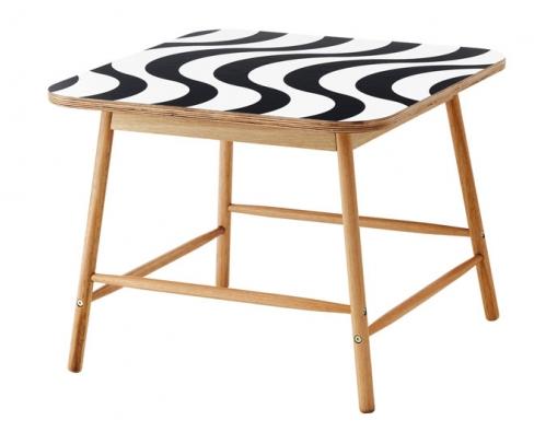 3. Konferenční stolek z kolekce Tillfälle, eukalyptové dřevo/laminát/ melaminová fólie, 70 x 70cm, výška 55cm, www.ikea.cz