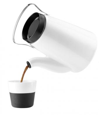 2. Porcelánová konvice na překapávanou kávu Madam, kombinace s nerezovou ocelí a silikonem, www.evasolo.cz