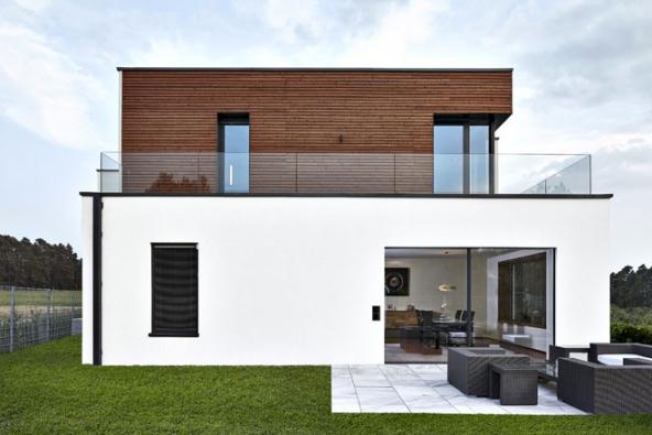 Pasivní dům shliníkovými okny Schüco AWS 90.SI+