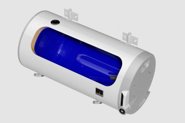 Elektrický závěsný ohřívač vody – vodorovný OKCEV 125 (Zdroj: DZ Dražice)