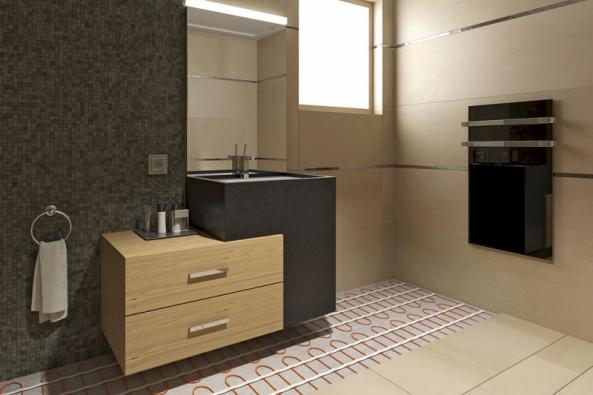 Navytápění podlahy zkeramické dlažby jsou vhodné rohože akabely Ecofloor, cena podle příkonu od576 Kč/m2