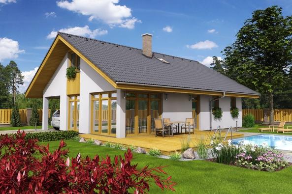 Nabídka typových domů s obdélníkovým půdorysem a sedlovou střechou je na našem trhu převeliká. I přesto z ní vyčnívá dům Diana. Paradoxně svou nenápadností a jednoduchostí.