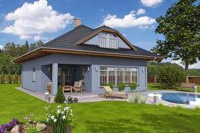 Rodinný dům CHARIS z nabídky chrudimské firmy Hoffmann patří svou přehlednou koncepcí ke klasickým domům s téměř univerzální možností výstavby.