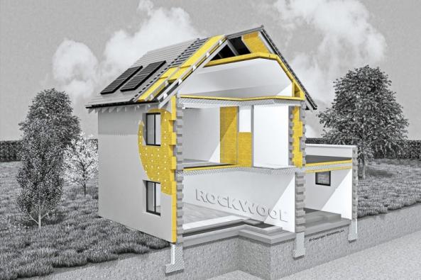 Kamenná vlna ROCKWOOL zajistí optimální tepelné vlastnosti fasády rodinného domu při zachování mechanických parametrů.