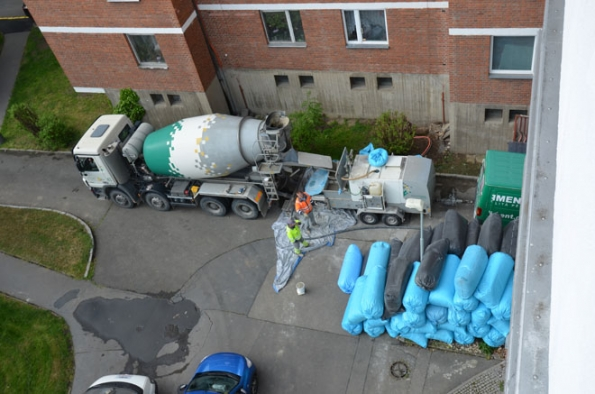 Technologie pro výrobu a čerpání lité cementové pěny na stavbě (Foto: Českomoravský beton)