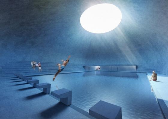 Návrh plaveckého bazénu v Písku