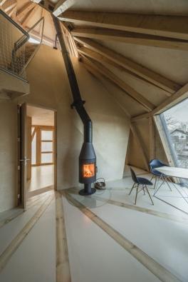 Dům v sadu - obývací pokoj