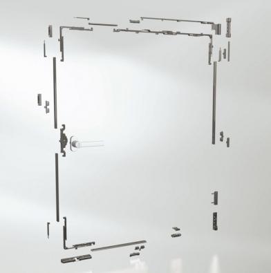 Kování Schüco Variotec pro plastová okna