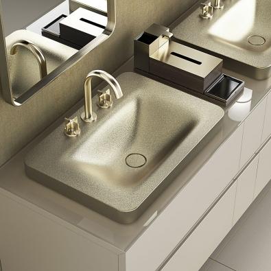 Exkluzivitu kolekce sanitárního vybavení Armani/Roca, kterou navrhl Giorgio Armani, podtrhuje lesk zlatavých astříbřitých efektů. VČR ji uvidíte vshowroomech Elite Bath (SIKO koupelny).