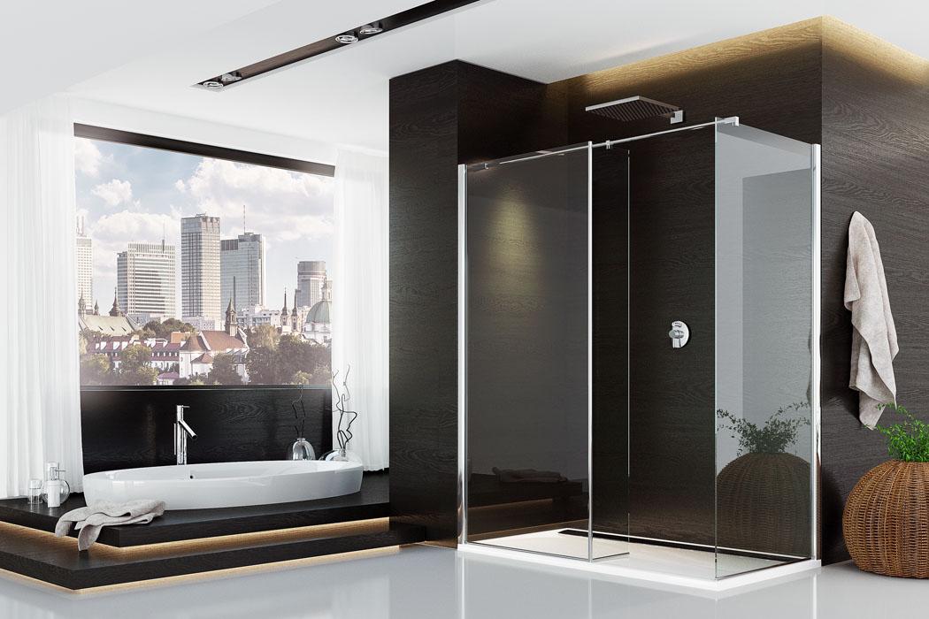 Koupelna: Sprcha v centru dění