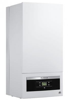 BUDERUS Logamax GB 062-24 (provedení ovýkonu 24 kW kombi) – nástěnný plynový kondenzační kotel pro topení aohřev TUV. Teplota vody 40–60 °C (BUDERUS)