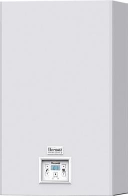 Český výrobce kotlů Thermona uvedl natrh kotle nové řady Therm 24. Jde oúsporné kondenzační kotle pro vytápění aohřev vody vevariantě průtokového ohřevu nebo smožností připojení nazásobník. Zacenu okolo 35000Kč nabízí moderní aúsporné kondenzační kotle sekvitermní regulací.