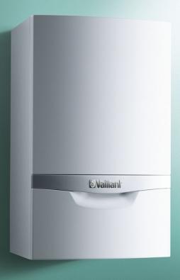 Závěsný plynový kondenzační kotel ecoTEC plus pro vytápění sprůtokovým ohřevem teplé vody, sširokou modulací výkonu 17–100% avysokou účinností až 108% (VAILLANT)