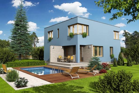 Jednoduchý tvar domu v kontrastu s apsidami, arkýři, lodžiemi, balkony, římsami, složitými tvary střech v současnosti stavěných domů, které jsou po několika letech provozu domu téměř s jistotou zdrojem možných problémů a následných oprav a sanací, je balzámem pro oči. Rčení, že v jednoduchosti je krása, je v případě domu BLUES výstižné.