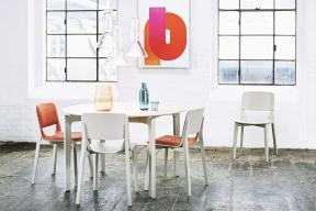 Stůl Leaf 443 veskandinávském stylu, materiál dýha, Ø 127cm, Ton, www.ton.eu